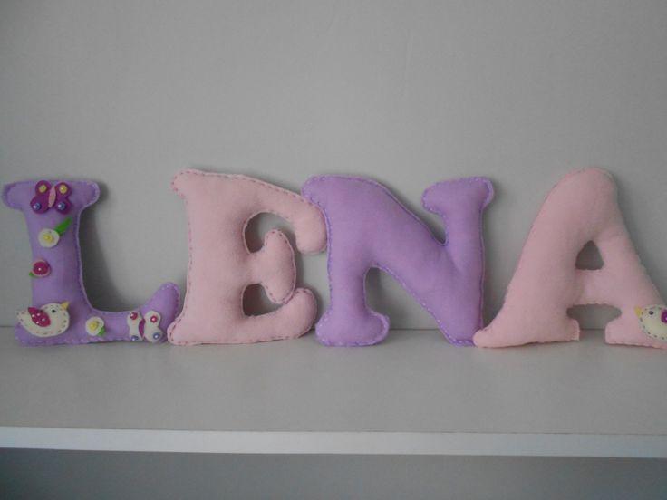 Dla dzieci dekoracyjne litery 3 D szyję wszystkie imiona lub napisy.