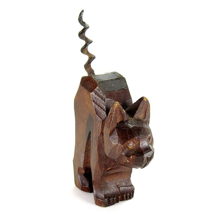 ooden carved pulley cat - 736×736