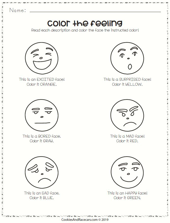 Color The Feelings Worksheet Free In The Prek Emotions Worksheet Pack Six Worksheets Include Matchi Emotions Preschool Emotions Activities Feelings Preschool Emotions worksheets for kindergarten pdf