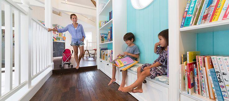 理想のアメリカンハウスを葉山に子どもと親の領域を分ければ家族全員がハッピー!