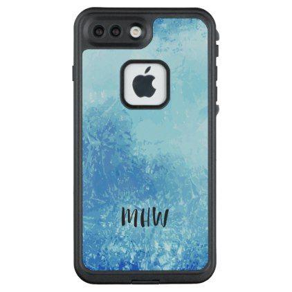 Abstract Ocean custom monogram phone cases - monogram gifts unique design style monogrammed diy cyo customize