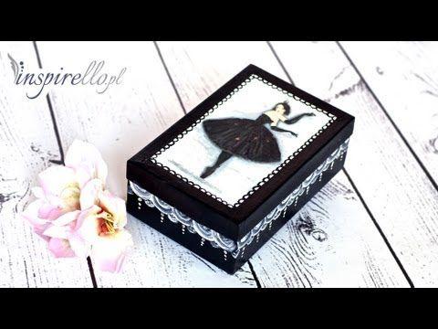 Decoupage krok po kroku - ozdobne pudełko po butach (dla dziewczynki) - YouTube