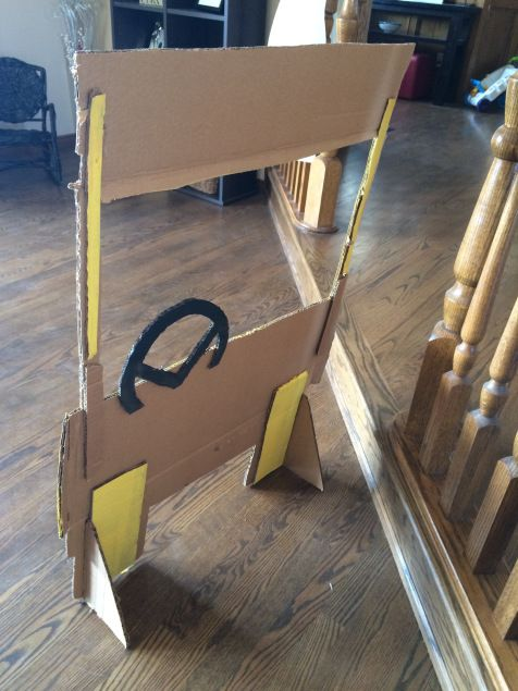 Last week, with your help, I planned out the design for the Photo Booth for my son's Construction themed birthday party. So I decided to get to it. The box we had wasn't as big as I had…