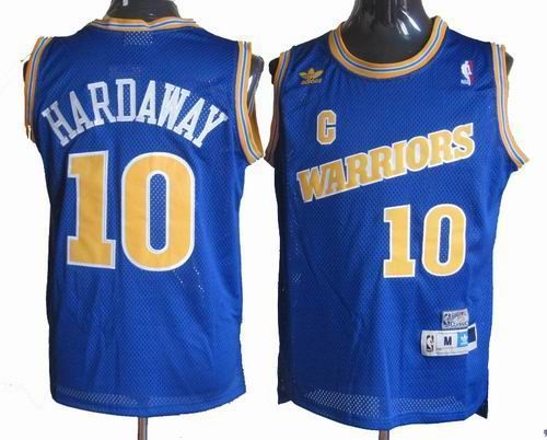 33fe50f81 ... Golden State Warriors 10 Tim Hardaway blue throwback jersey 24.5 ...
