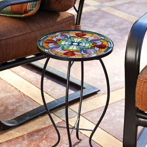 #eBay#Black Round Coffee#Table Small Metal Frame#Gloss Individual Glass#Top Cup Stand
