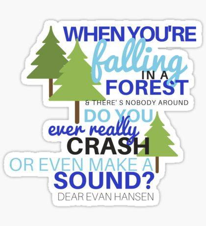 Dear Evan Hansen- Waving Through a Window Sticker