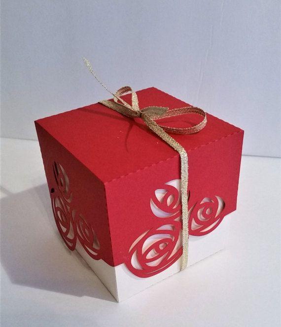 Wedding Favor Box 2 Rose Favor Box Favor Boxes Candy Treat