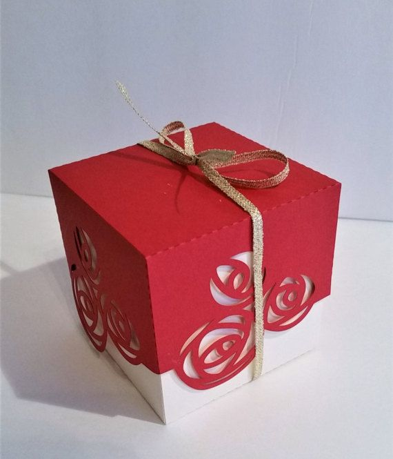 Wedding Favor Box 2 Rose Favor Box Favor Boxes Candy Treat