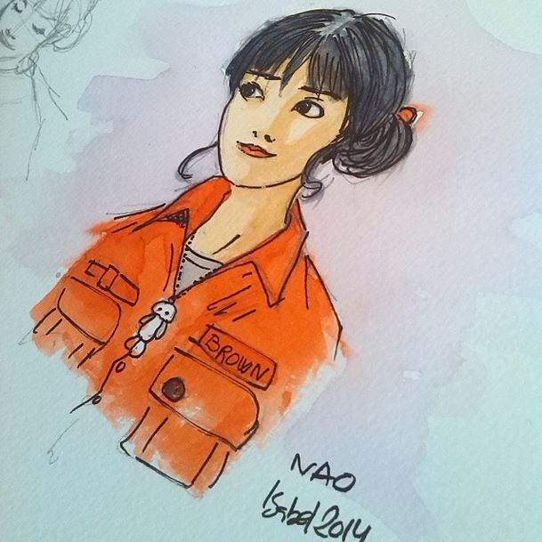 "Fan art ""Nao de Brown"" by Isabel Hierro #thenaoofbrown"" Glyn Dillon"