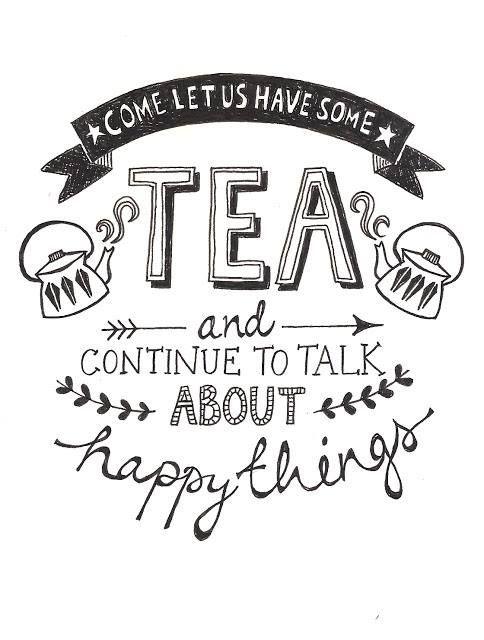 Tea Time Illustration by Jen Roffe  https://www.etsy.com/shop/JenRoffePrint