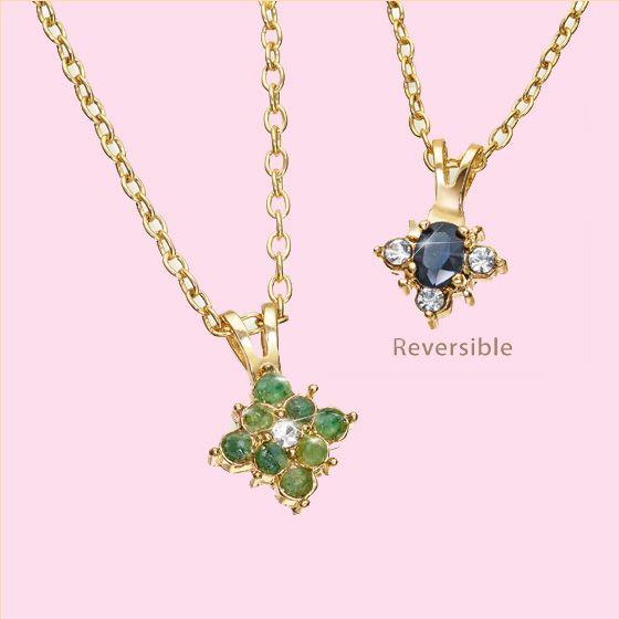 Genuine Emerald & Sapphire Pendant