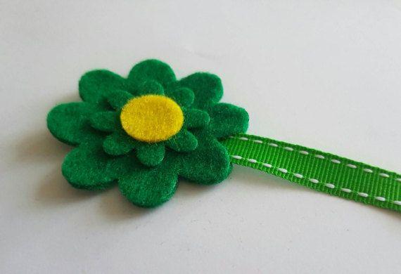 Feltro fiore segnalibro, segnalibro feltro, fiore fatto a mano, feltro, tagliato