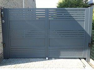 Dubbele draaipoort Glenfiddich aluminium automatisch   Metallooks