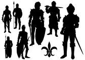 Silhouette Knight : Middeleeuwse ridder silhouet
