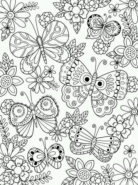 Spring Adult Coloring Page Felicity French
