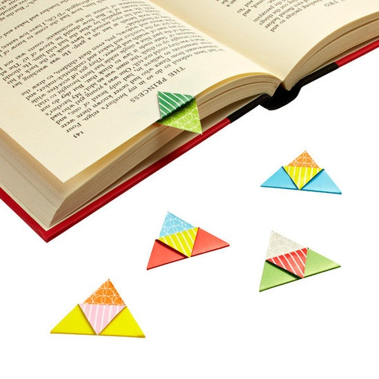 Origami Bookmarks : Colorful and magnetic, these origami bookmarks ($8) ensure no one needs to fold the corner of a page again.