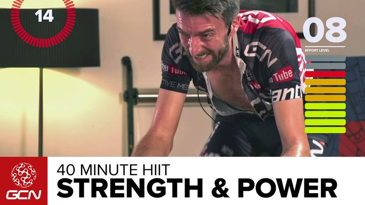 Strength & Power Indoor Cycling Workout – 40 Minute High Intensity Training - YouTube