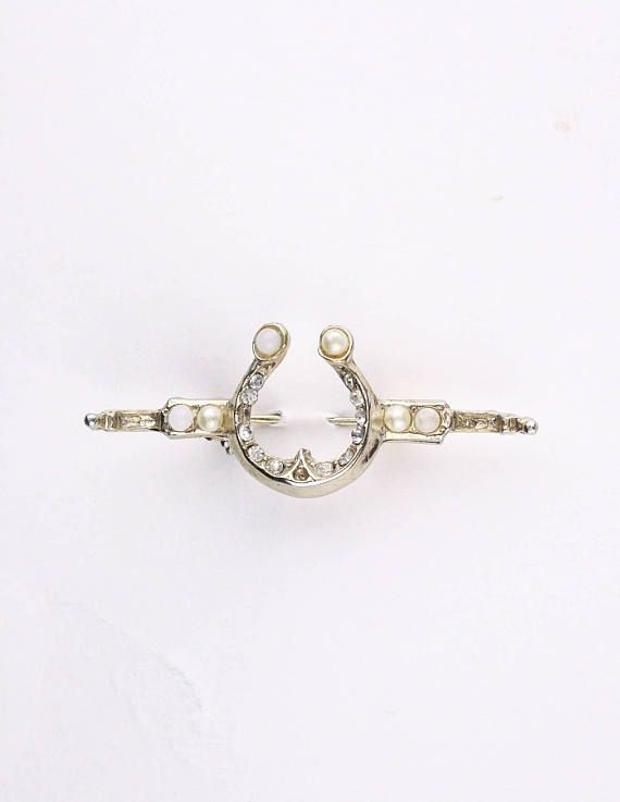 Lucky Vintage Brooch in my Etsy shop https://www.etsy.com/ca/listing/574191380/80s-lucky-horseshoe-brooch-gold-tone