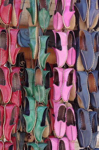 Slippers in the Bazaar . Gaziantep, Turkey