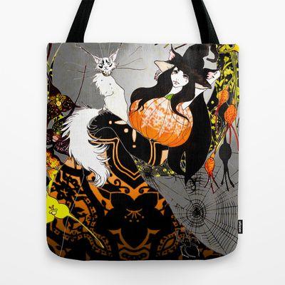 Halloween Tote Bag by Priscilla Moore - $22.00