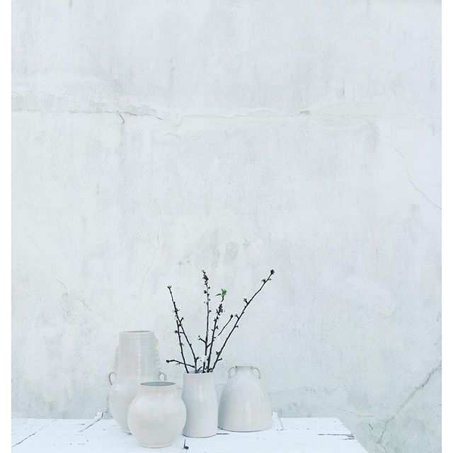 Vasemaroc - Beautiful with or without cherry branches from the garden. Either way they become a sculptural still life #tinekhome #tinek #vase #maroccan #ceramics
