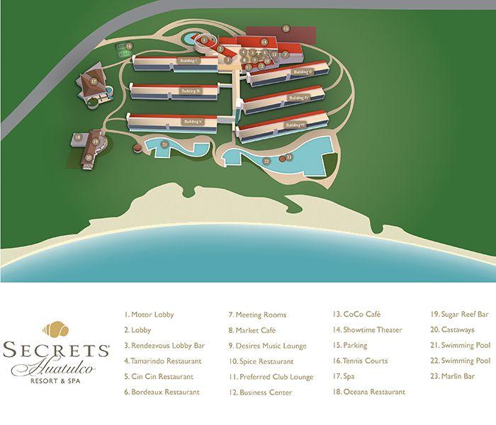 Secrets Huatulco Resort Map Unlimited Vacation Club