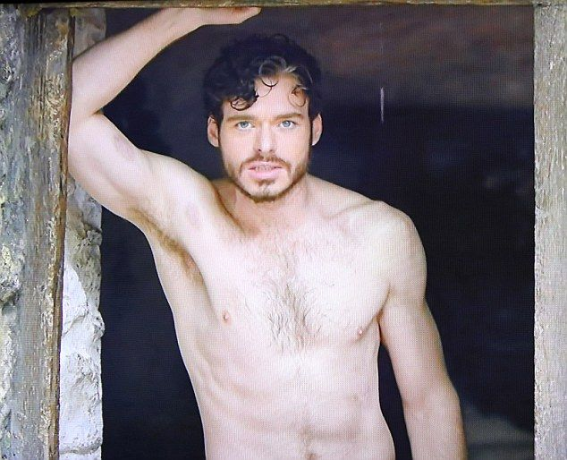 Stripping off: Women and gay men around the globe sung and rejoiced when Richard Madden got his chest out on BBC's Lady Chatterley's Lover