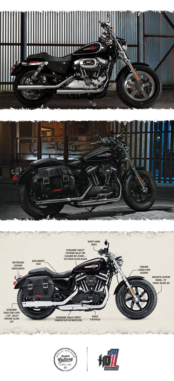 The wide shouldered cruiser with genuine custom presence. | 2016 Harley-Davidson 1200 Custom