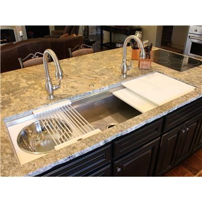Undermounted Sinks With A Ledge That Allow For Accessories To Slide And Create Many Functional Lications