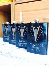 Personalized Groomsmen Gift,Engraved Flasks, Black Engraved Flasks,8 oz | Hanger Design Center