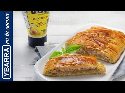 Trenza de calabacín, York y queso con mayonesa Ybarra - YouTube