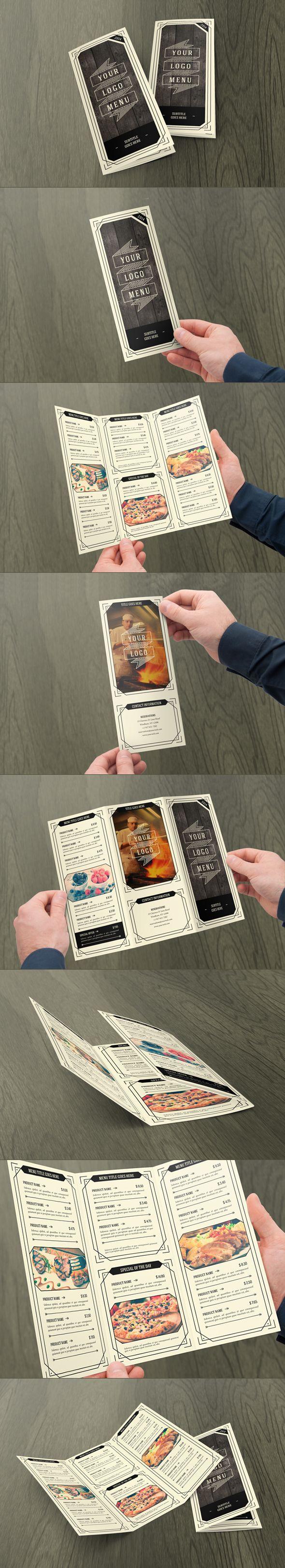 Retro Indie Food Menu. Download here: http://graphicriver.net/item/retro-indie-menu-trifold/7155587?ref=abradesign #design #trifold #menu