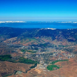 Carson City, Nevada; nestled below Lake Tahoe in the foothills of the Sierra Nevada Mountains.