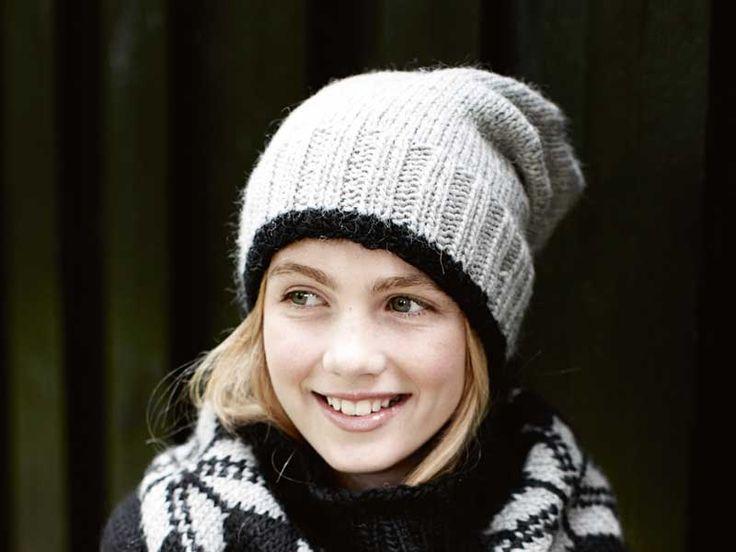 Описание вязания на спицах подростковой шапочки из журнала Burda. Creazion №2/2013
