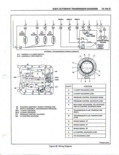 4l60e Wiring Harness Diagram In 2020