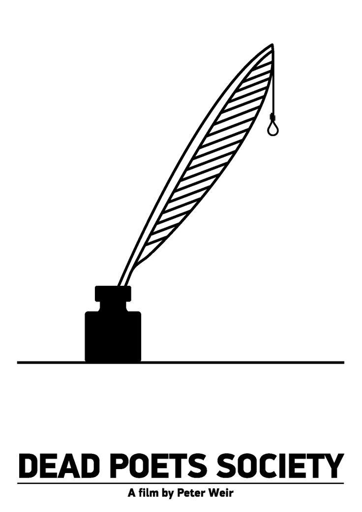 "Pictogram Movie Poster ""Dead Poets Society"". Tribute to Viktor Hertz."