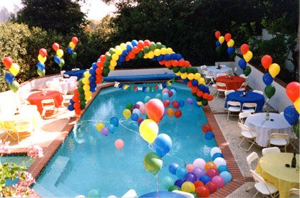 Decoracion pool party buscar con google pool party - Ideas para cumpleanos en piscina ...