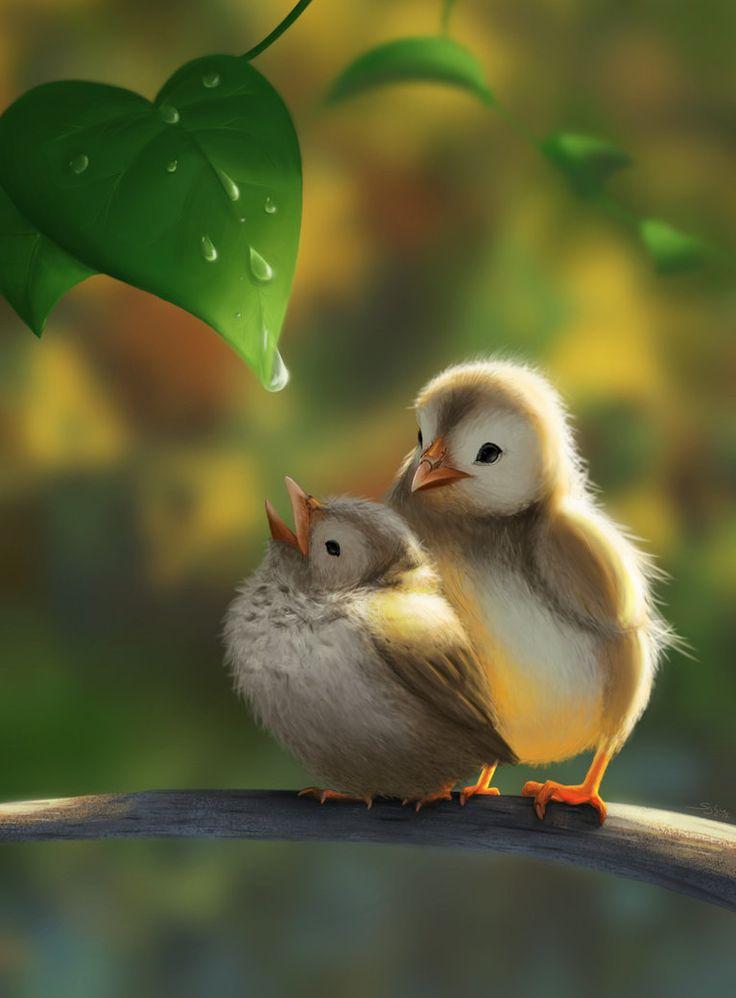 Tiny birds by Sighne.deviantart.com on @DeviantArt