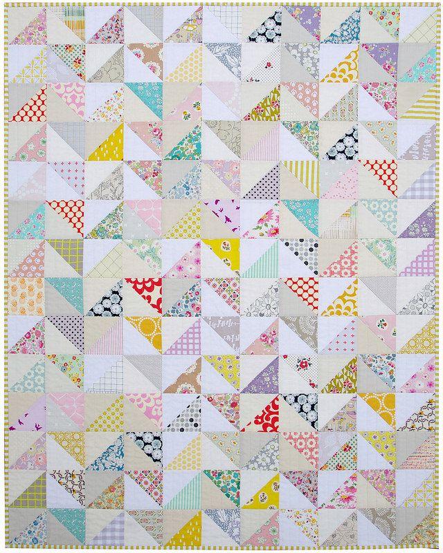 Half Square Triangle Baby and Toddler Quilt (via Bloglovin.com )