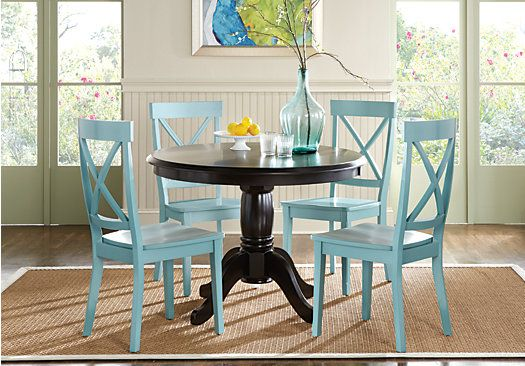 picture of Brynwood Black 5 Pc Round Dining Set from Dining Room Sets Furniture