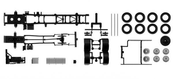 Herpa 084376, 084376, H084376, Fahrgestell MAN TGX TGS 3-achs, Inhalt: 2 Stück, MAN TGX TGS, Fahrg