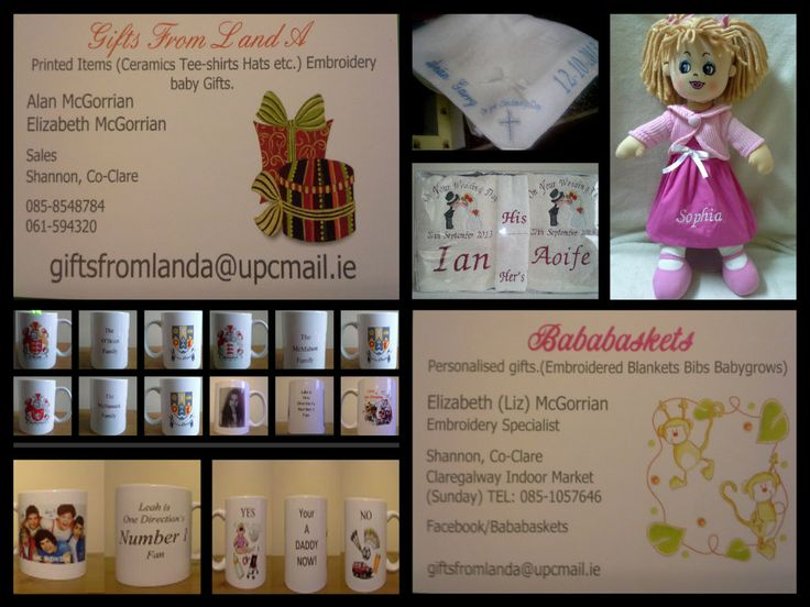 For all your personalised gifts. Go to www.facebook.com/bababaskets
