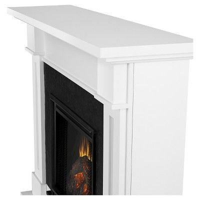 Real Flame - Kipling Electric Fireplace-White, White