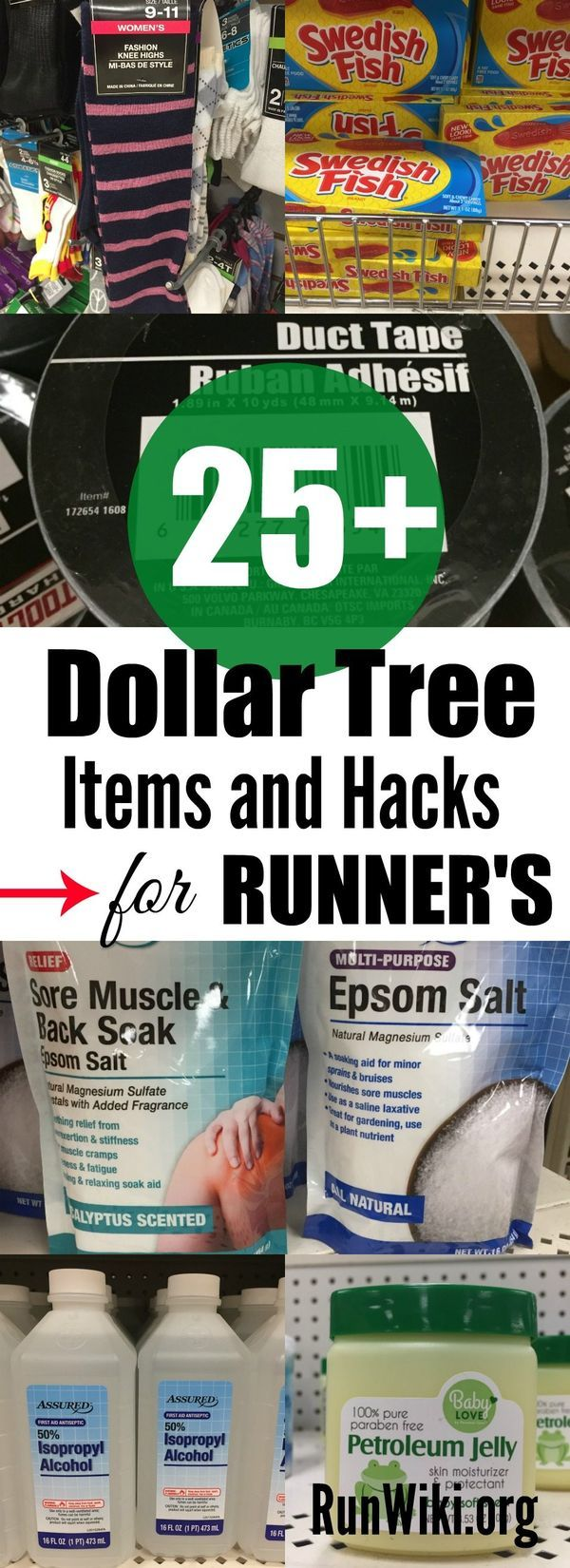 Most of the time I am in the Dollar Store or Tree only at Christmas to do a DIY craft or home decor project, but I discovered many items and hacks that are work great if you are a runner training for a half marathon or race. I love number 3! Running tips  5K   10K plans   fitness