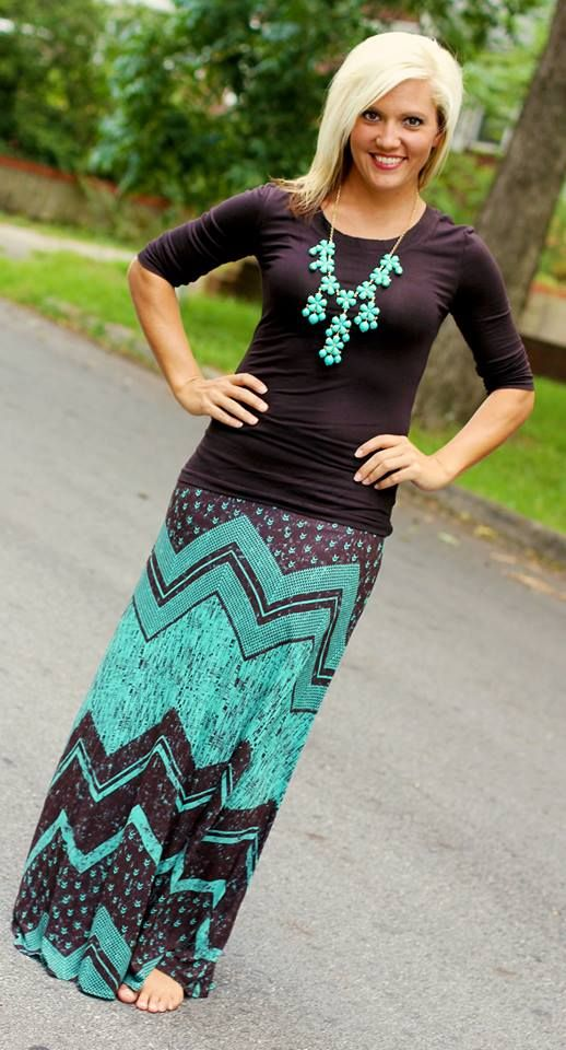 Suri maxi skirt s m l available at 105 west for Cute shirts for maxi skirts