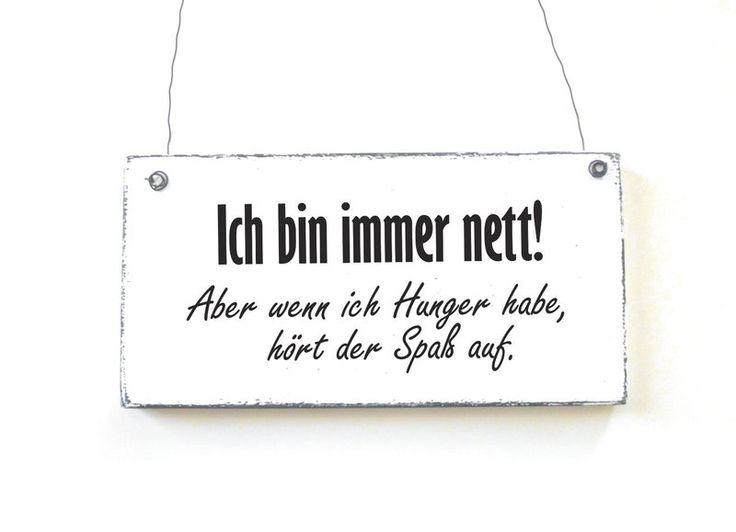 Dekoschild ICH BIN IMMER NETT Holzschild Shabby von DÖRPKIND auf DaWanda.com