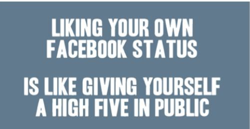 @Bethany Green @Britt Biddinger @Danielle Mailly is this true...? :( Have i become like an obnoxious facebooker liker their own statuser?? :'(