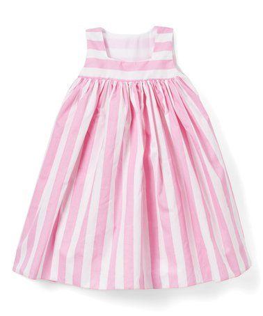 Pink Stripe Babydoll Dress - Infant, Toddler & Girls