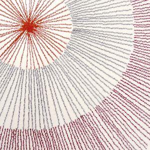 Tapis design motif Pissenlit rouge Edito (2 tailles)