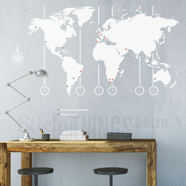 World Map Decal - World Map Wall Art South Africa